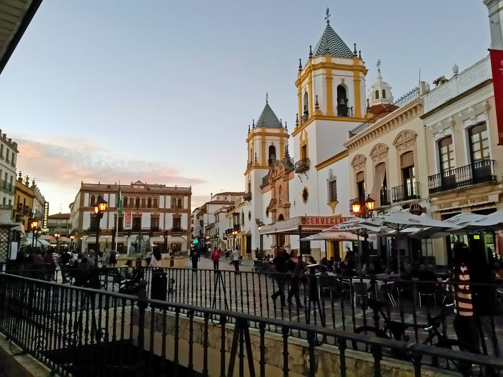 Plaza del Socorro en Ronda, España.