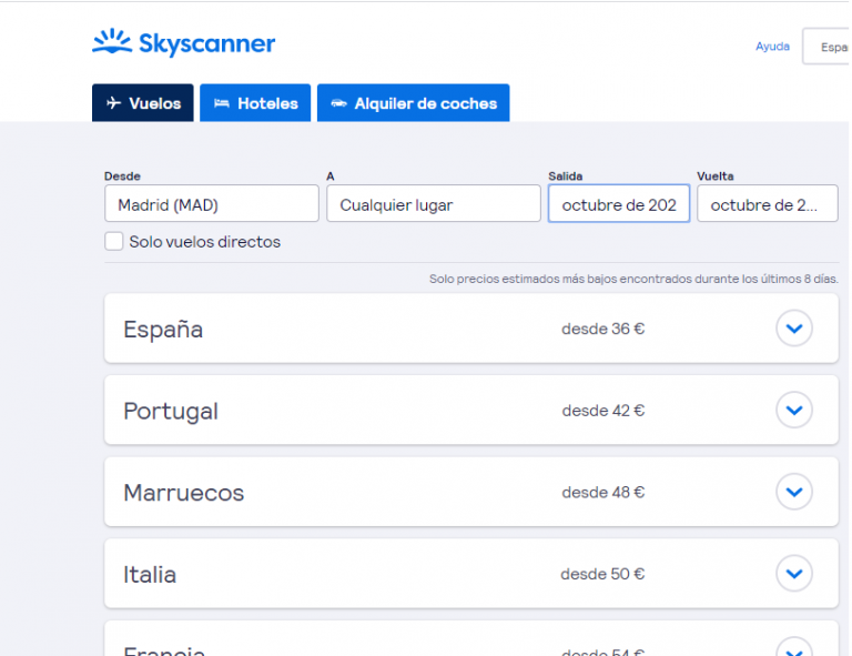 Skyscanner, Cómo planificar un viaje paso a paso.