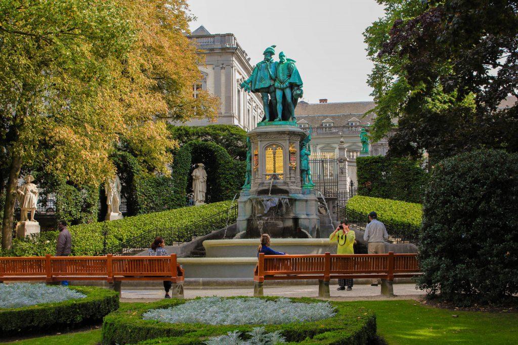 Parque de Bruselas o Parque Real, Bélgica.