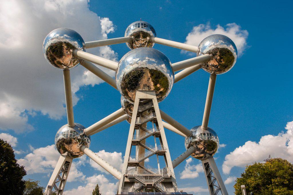 Atomium en Bruselas. Bélgica.