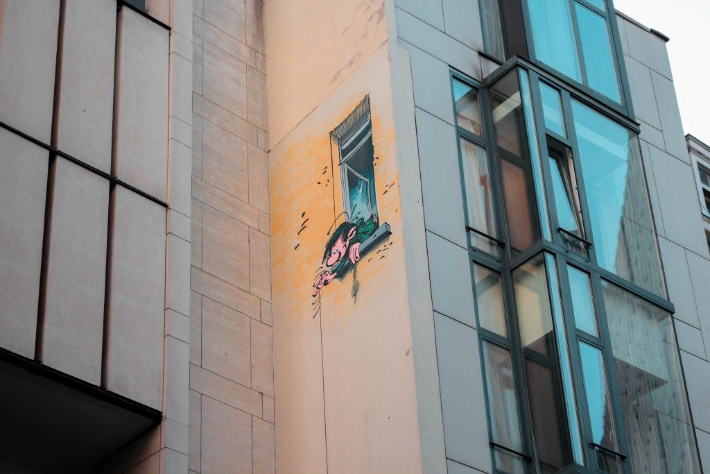 Ruta de los Grafittis en Bruselas, Bélgica.