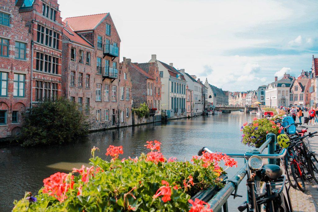 Canales de Gante, Bélgica.