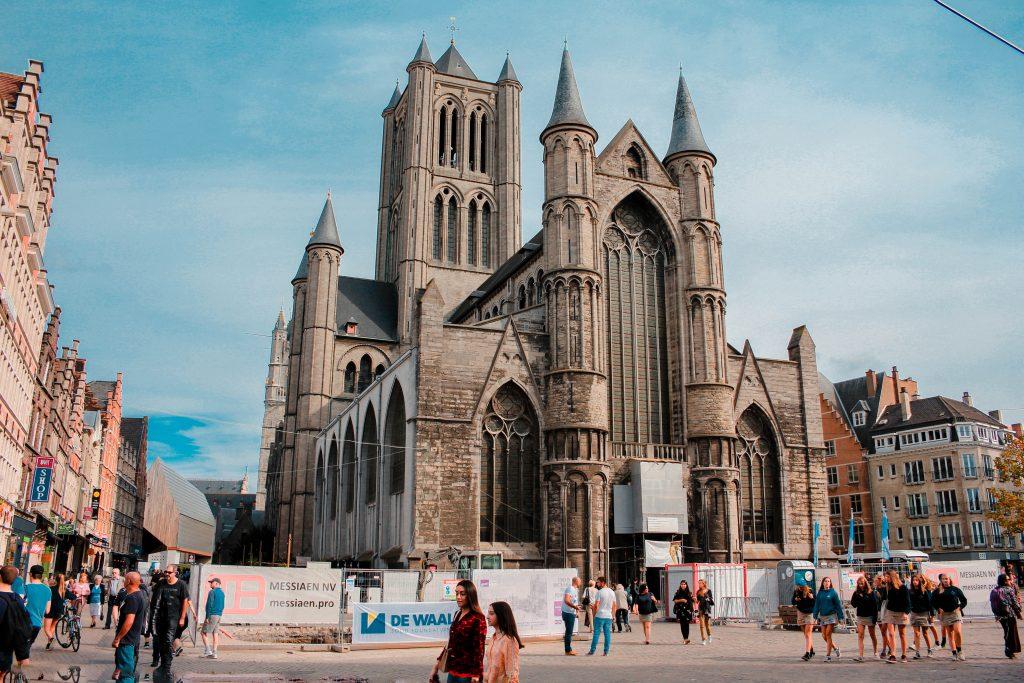 Iglesia de San Nicolás en Gante, Bélgica.