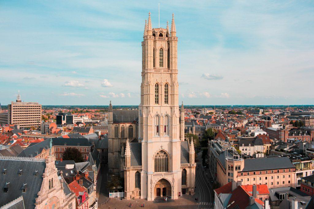 Catedral San Bavón de Gante en Bélgica.