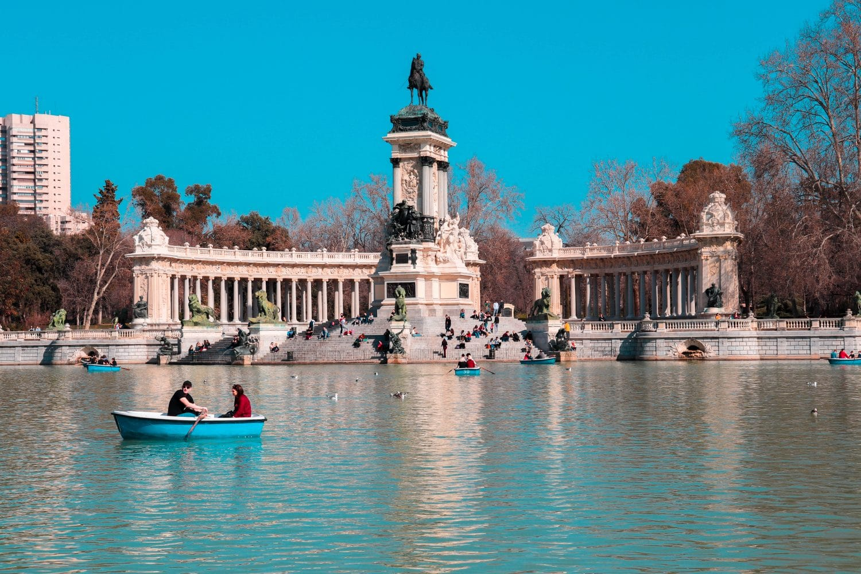 Parque del Retiro en Madrid, España.