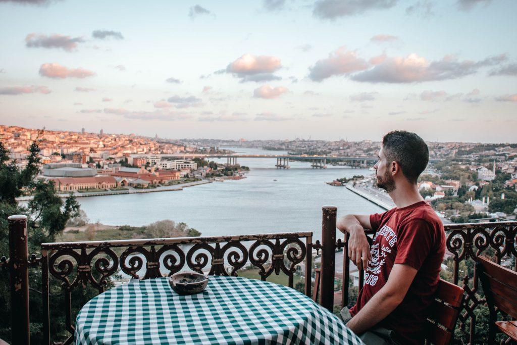 Vistas desde el Pierre Loti Cafe en Estambul