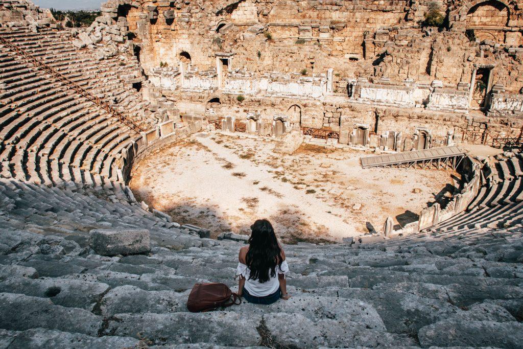 Ruinas de Perge en Antalya, Turquía