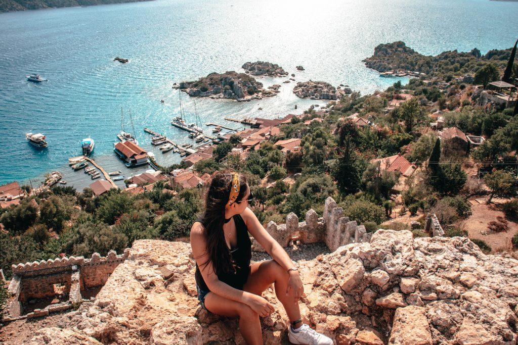 Vistas de Kekova desde la cima de Simena Kalesi