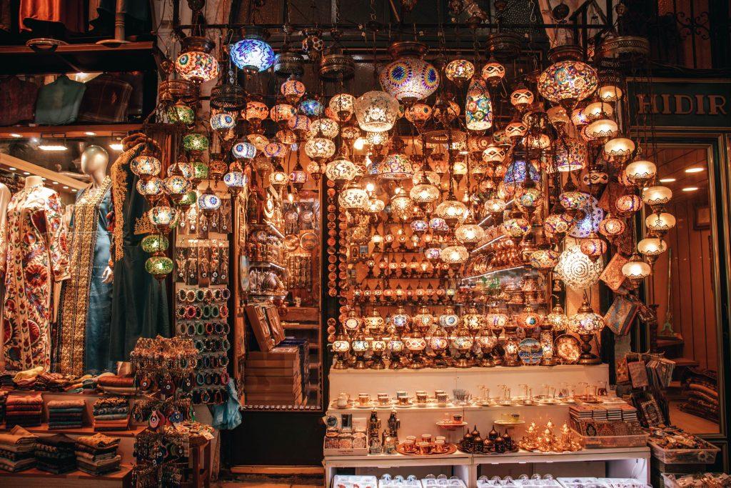 Gran bazar de Estambul en Turquía