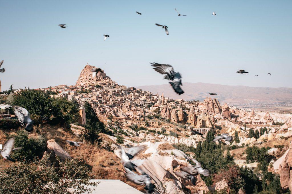 Pigeon Valley en Capadocia, Turquía