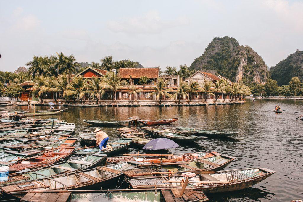 Tam Coc en Ninh Binh, Vietnam