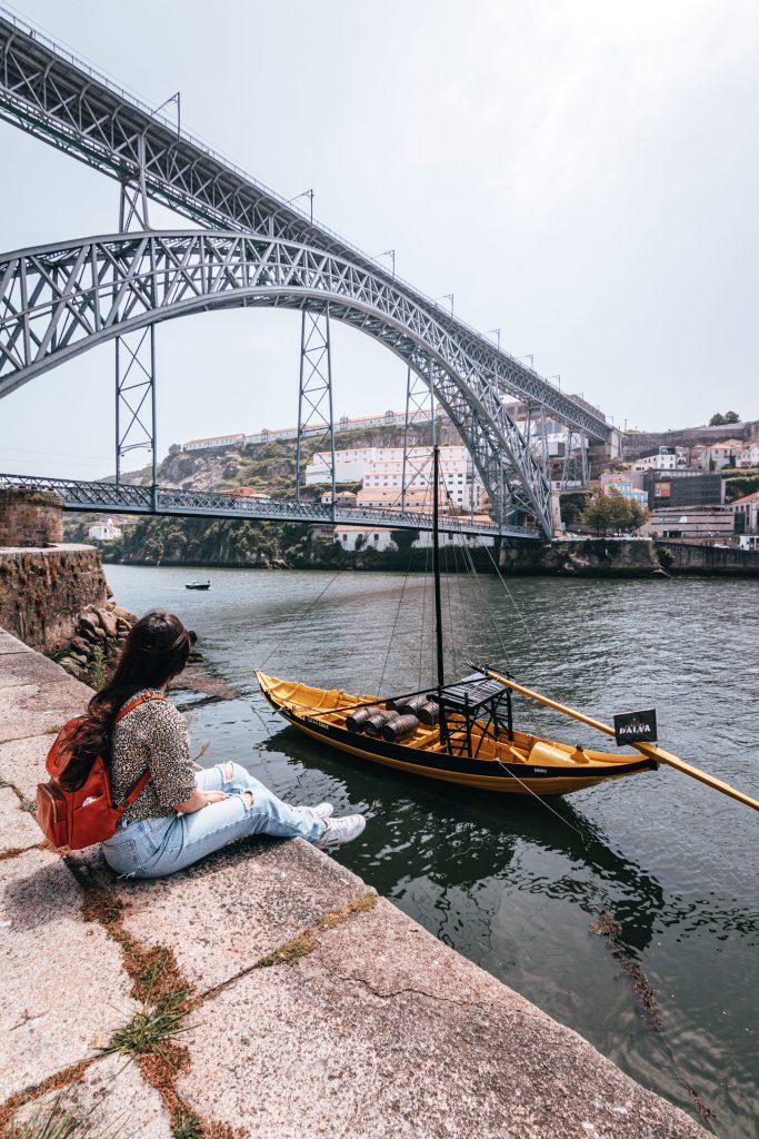 Puente Luis I de Oporto, Portugal.