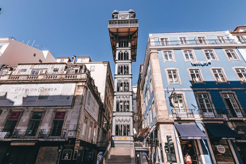 Elevador de Santa Justa en Lisboa, Portugal