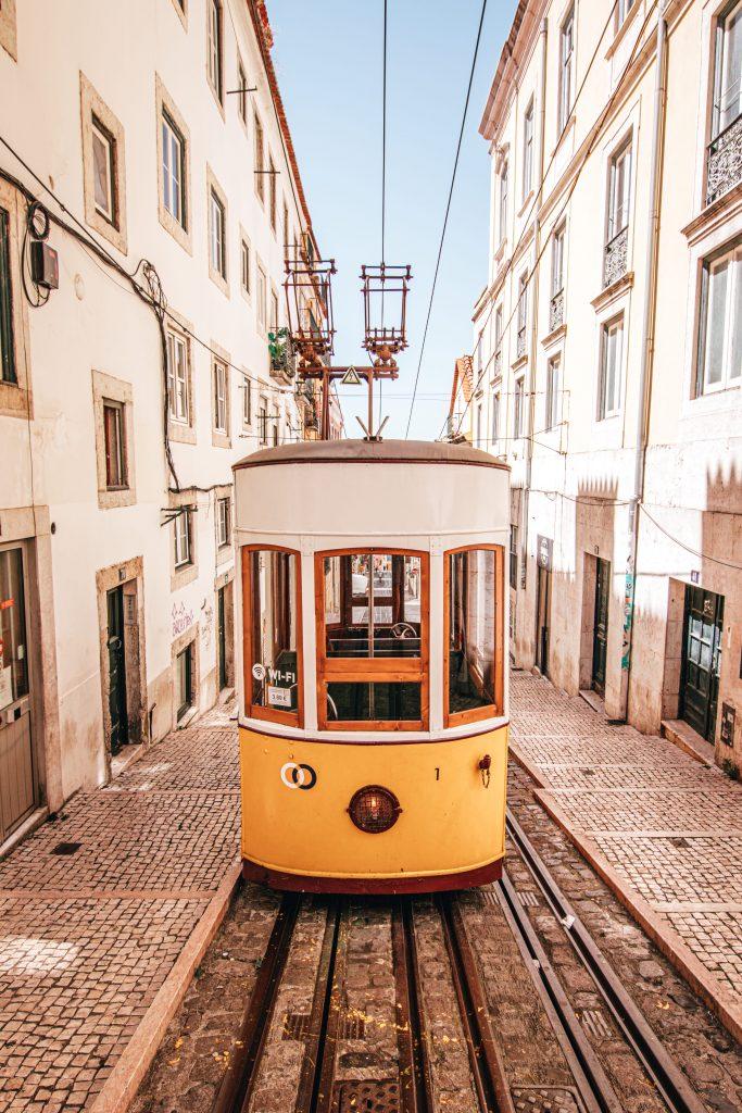 Elevador da Bica en Lisboa, Portugal