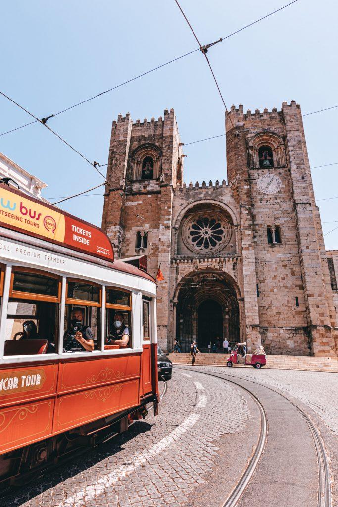 Catedral de Lisboa en Portugal.