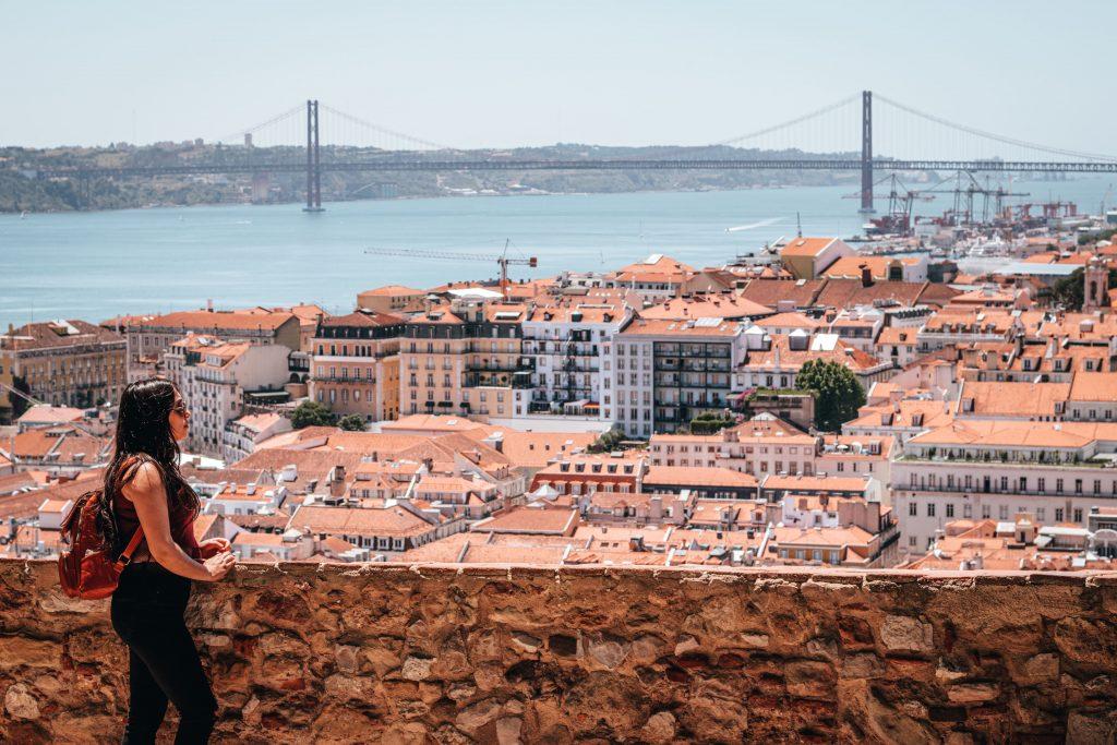 Puente 25 de abril en Lisboa, Portugal.