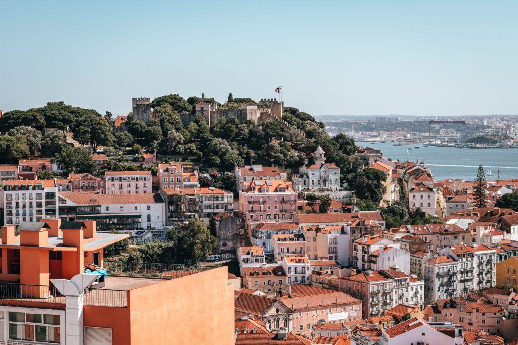 Castillo de San Jorge en Lisboa, Portugal.