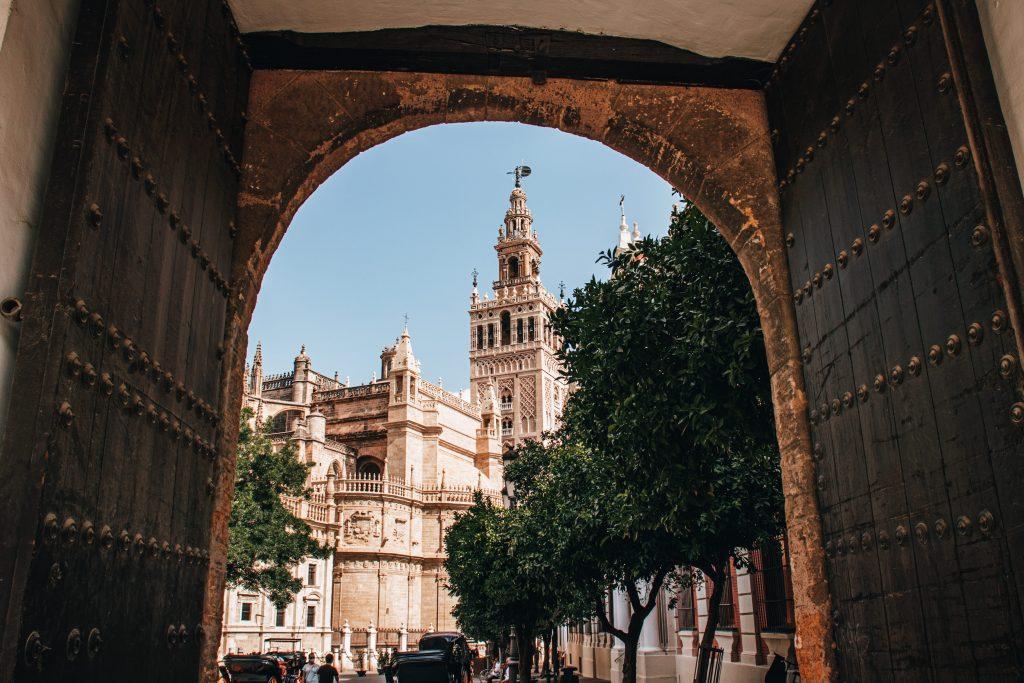 Torre de la Giralda en Sevilla, España