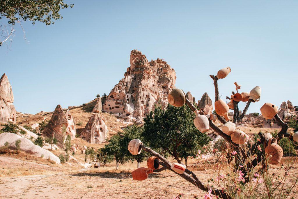 Castillo de Uçhisar en Capadocia, Turquía