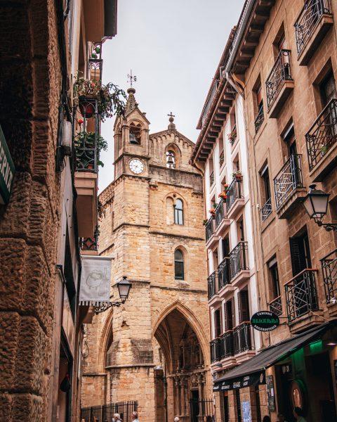 Iglesia de San Vicente en San Sebastián, España
